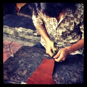 maroquinerie technique fabrication