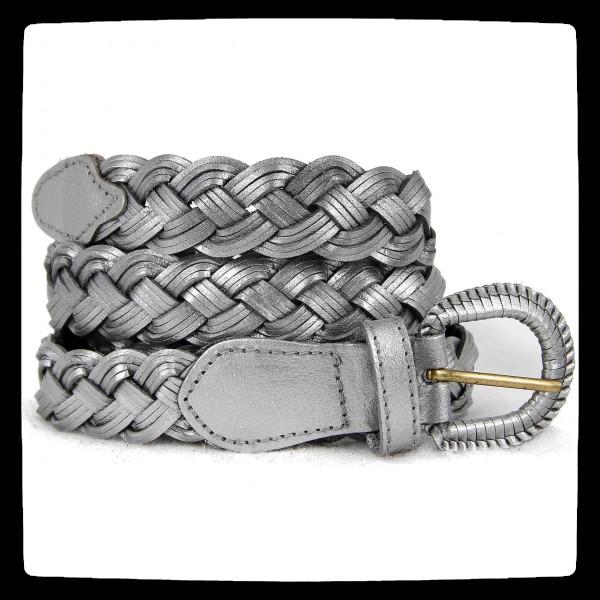 ceinture grise argente