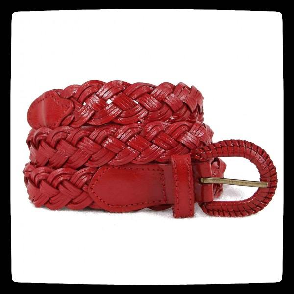 ceinture rouge cuir