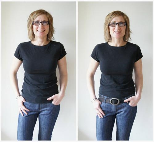 ceinture sur jeans