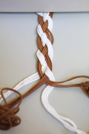 fabriquer ceinture tressee cuir