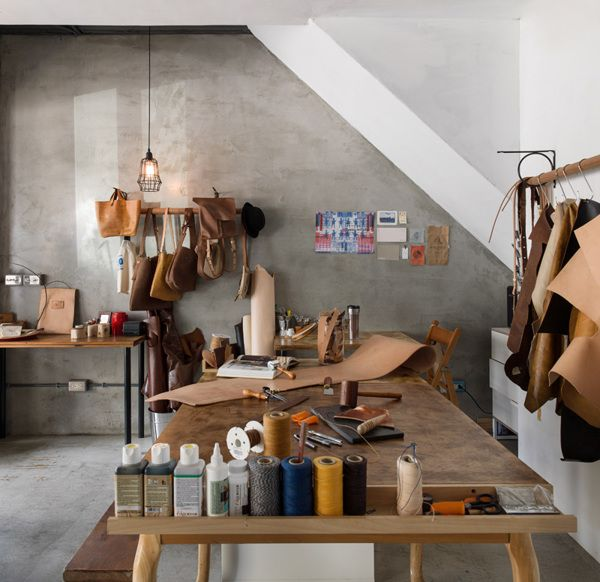 outils travailler cuir