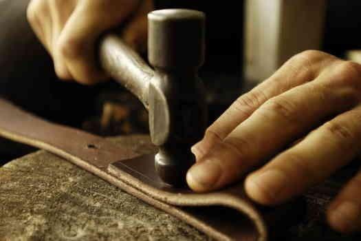 Ceintures en cuir tressé artisanales